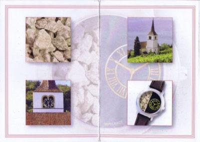 """""""Gleressia"""" – eine Uhr – Zusammenarbeit mit der Kirchgemeinde Ligerz und Palladium AG (2009)"""