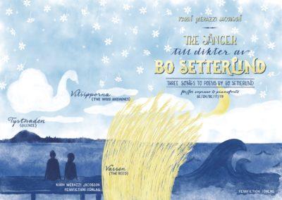 """Publikation """"Tre sånger till dikter av Bo Setterlind – Three songs to poems by Bo Setterlind"""" (2017)"""